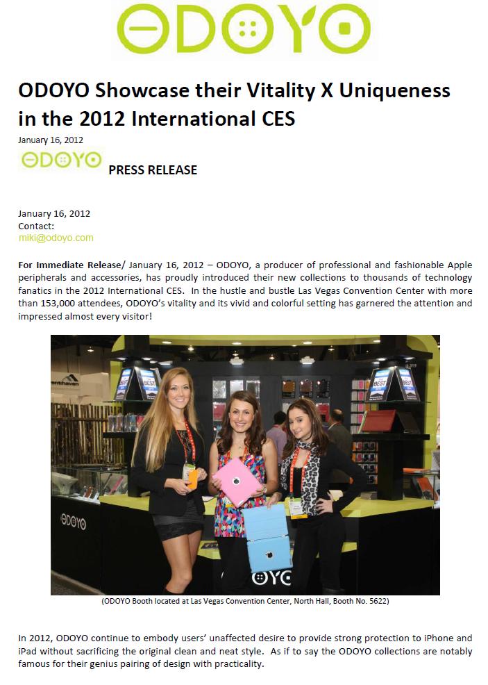 CES 2012 news letter Part A1