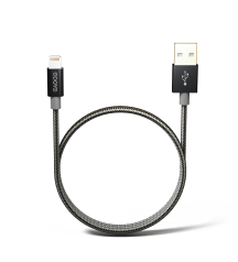 MFI lightning cable, 2m charging cable, PS220BK Front