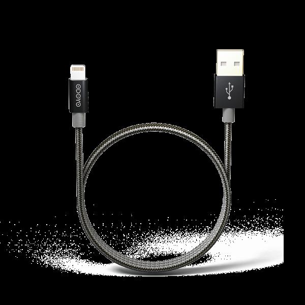 2-meter Metallic MFI Lightning to USB Cable