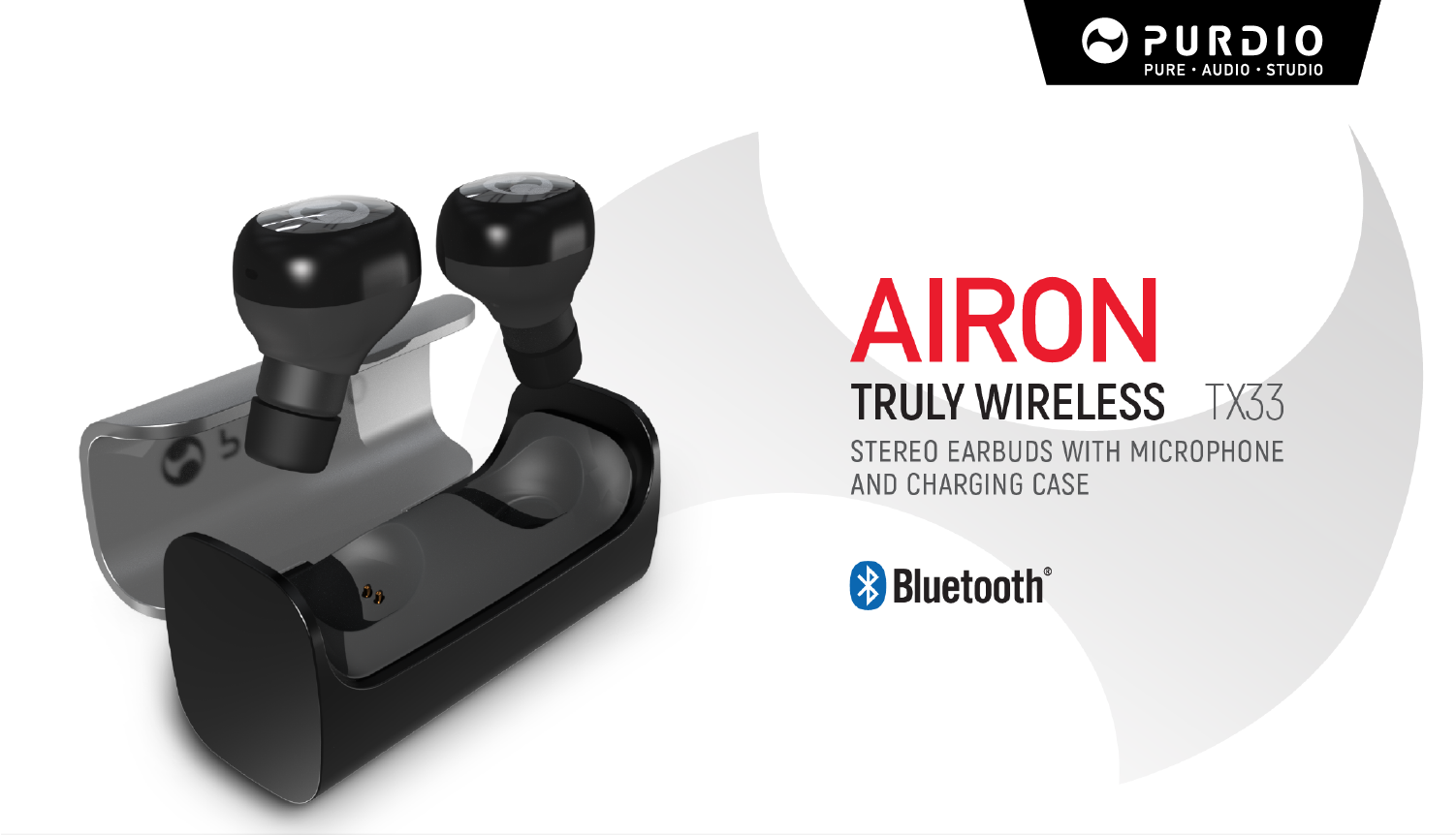 Airon is a truly wireless stereo earbuds with microphone and portable charging case, it brings a fabulous wireless stereo experience.