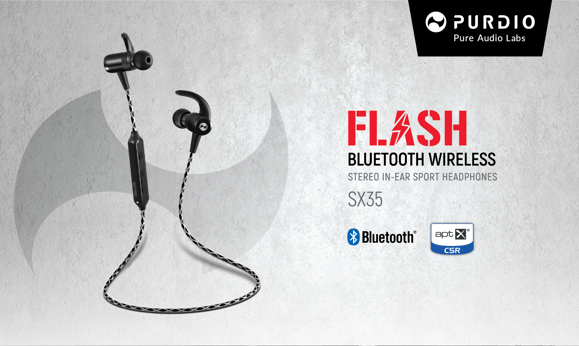 Purdio Flash Bluetooth Wireless In ear Sport Headphones, one of the best earphones