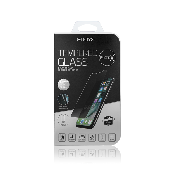 0 33mm Tempered Glass 2 Way Privacy Screen Protector For