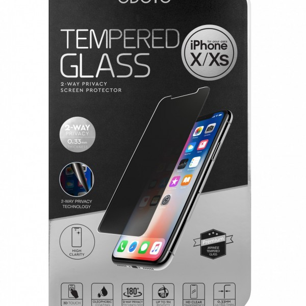 Tempered Glass 2-Way Privacy Screen Protector for iPhone X/XS